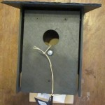 Item #36 Slate Bird House donated by Richard Rupe, valued at $80, opening bid, $40