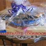 Item #11 Pie Lovers w/pie dish, server, chocolate and 2 cookbooks, donated by the Friends of the Pember Library, valued at $25, opening bid $15