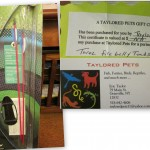 Item # 73 Junior Archery Set donated by Whitney's and a Gift Certificate for three Fire Belly Toads donated by Taylored Pets, valued at $45, opening bid $20