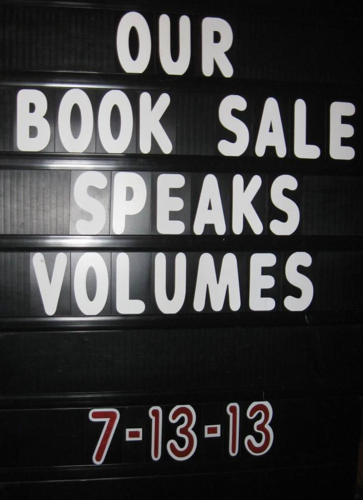 Book Sale Saturday 9 AM – 3 PM