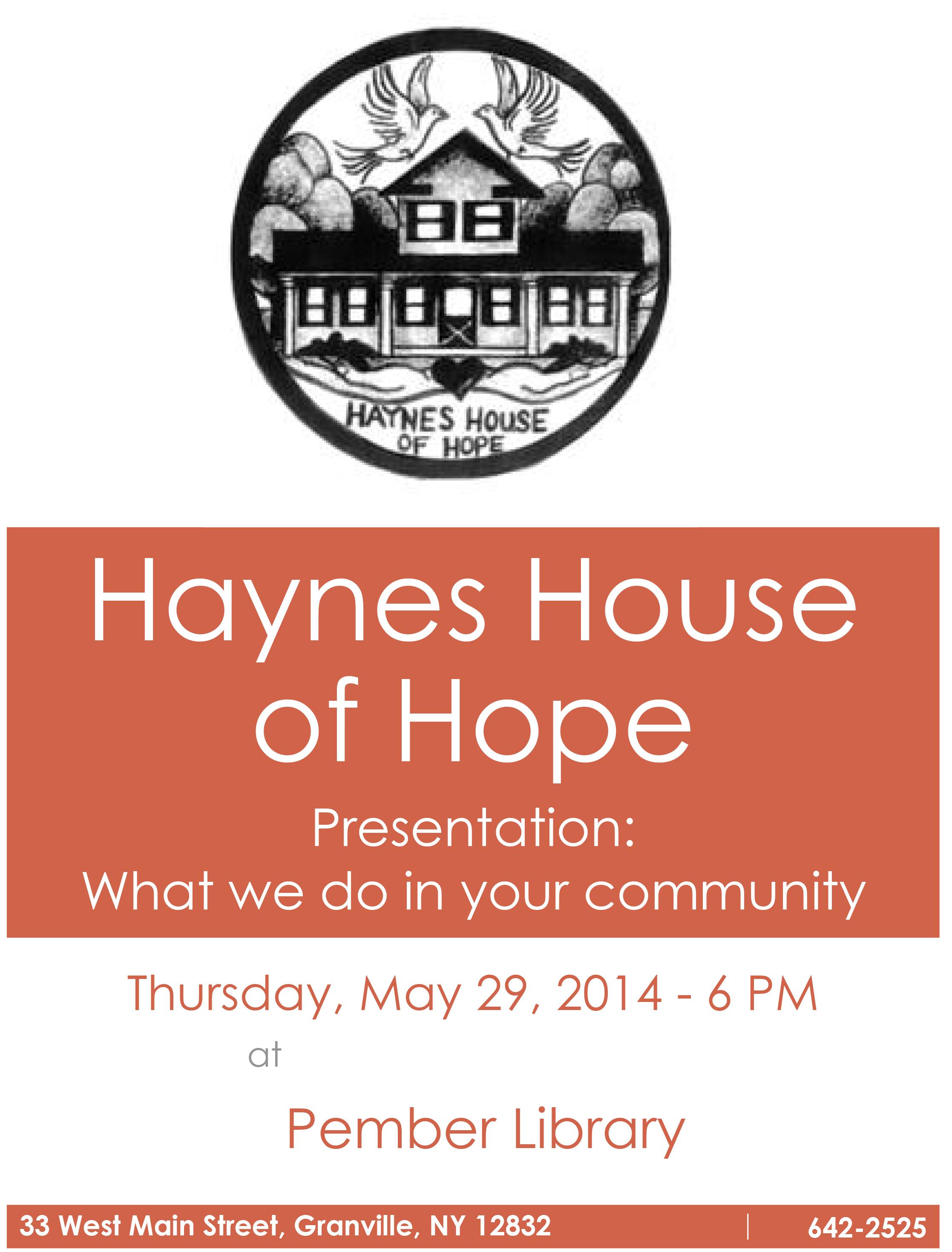 Haynes House Presentation
