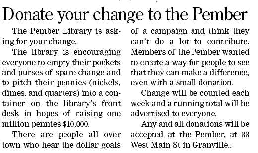 Give us your change!