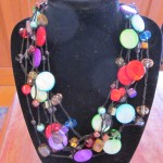 "13) Premier Designs ""Spectrum"" hematite plated 20″ necklace, valued at $48 -starting bid $24"