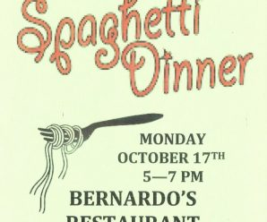 Spaghetti Dinner fundraiser ~ Friends of the Pember Library ~ October 17, 5-7PM