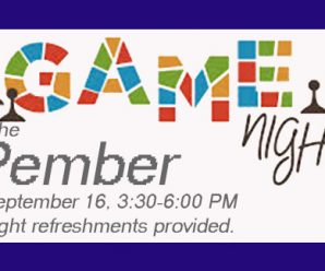 Game Night at the Pember 9/16, 3:30-6PM