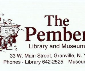 May Events at the Pember