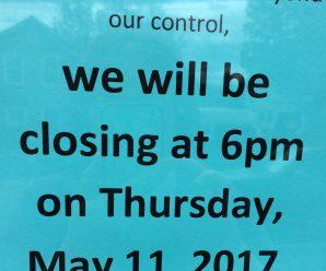 closing early May 11