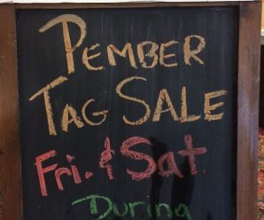 Tag Sale Inside Friday & Saturday