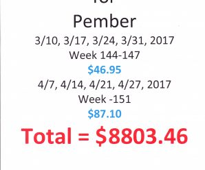 Pennies for Pember getting close to $9000
