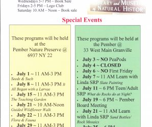 July events at the Pember