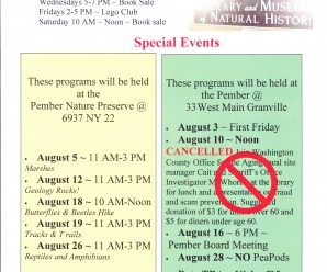 August Events at the Pember EDITED
