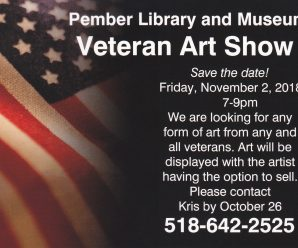 Veterans Art at the Pember – First Friday November