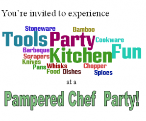 Pampered Chef Party May 22